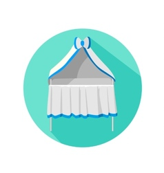 Baby cot modern flat style with a long shadow vector