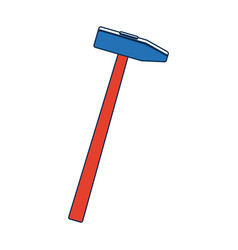 Carpenter hammer tool construction element vector