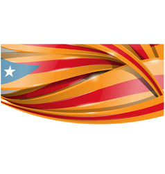 catalonia banner background flag vector image