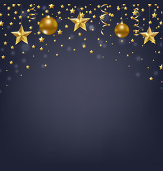christmas card with stars vector image