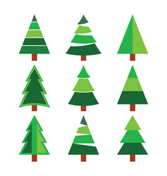 christmas tree set vector image