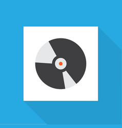 compact disk icon flat symbol premium quality vector image