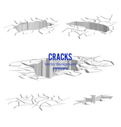 Cracks in the ground split damage after vector