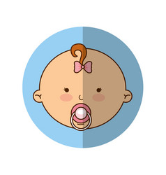 cute baby girl character vector image