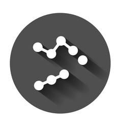 dna icon medecine molecule flat with long shadow vector image