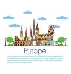 europe travel infographic vector image