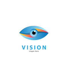 eye logo design template colorful media ic vector image