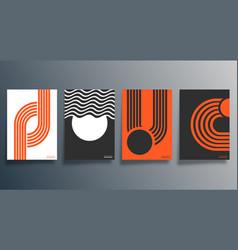 geometric minimal design for flyer poster vector image