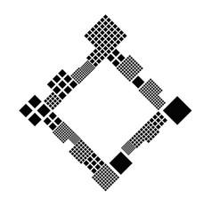 Geometrical modern diagonal square frame vector