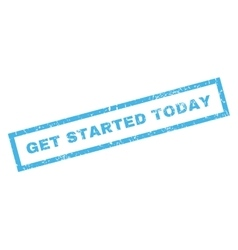 Get Started Today Rubber Stamp vector image