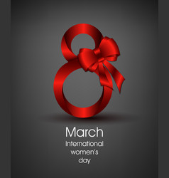 Gift card for international women s day march 8 vector