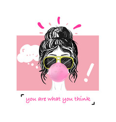 girl power slogan print vector image