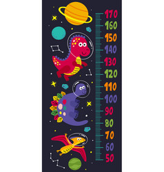 Growth measure with dinosaurs in space vector