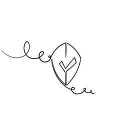 hand drawn doodle shield and checklist symbol vector image
