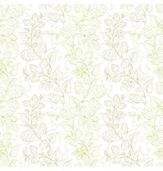 Hop seamless pattern vector image