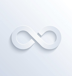 Infinity sign with shadow vector image