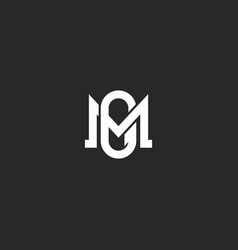 Initials letters mg or gm logo monogram two vector