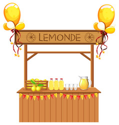 Isolated lemonade stall on white background vector