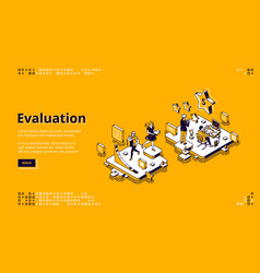 Landing page rating and evaluation service vector