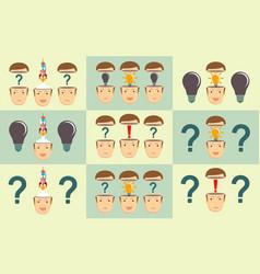 leadership concept man with an idea vector image