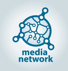 logo and electronic media network vector image