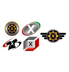 Logotype x modern template set vector