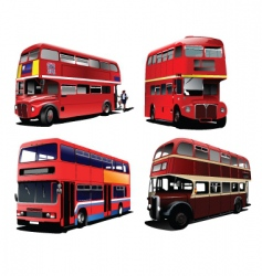 London buses vector image