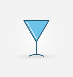 martini cocktail glass colorful icon vector image