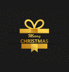 merry christmas festival banner with gift box vector image