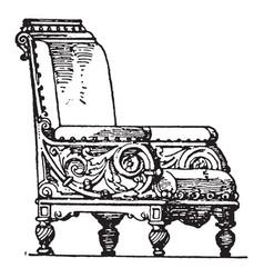 Modern arm chair vintage vector