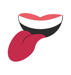 mouth with tongue out cartoon royalty free vector image rh vectorstock com cartoon tongue picture cartoon tongue images