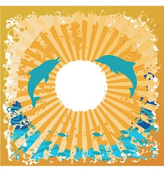 ocean beach design vector image