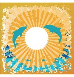 ocean beach design vector image