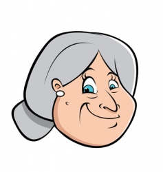 old lady's hairbun vector image