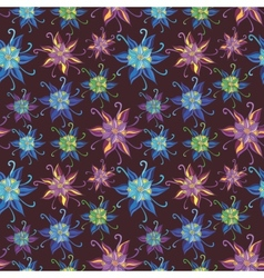 Pattern with Spring Flowers vector image