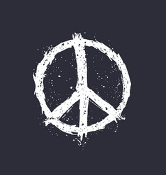 Peace sign on dark vector