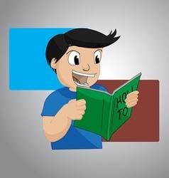 Reading book vector