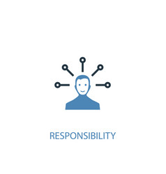 Responsibility concept 2 colored icon simple blue vector