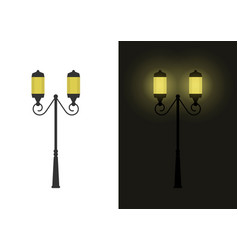 retro street lights vector image