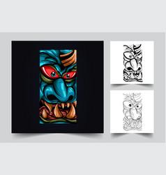 Satan big face artwork vector