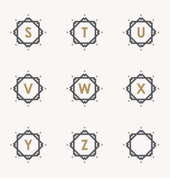 set letter s vector image