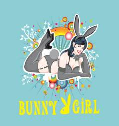 sexy pin up bunny girl vector image