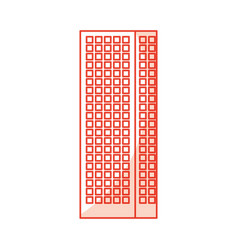 Shadow red tall building vector