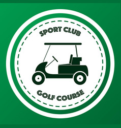 Sport club golf course logo design vector