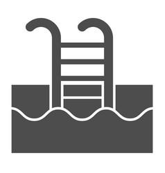swimming pool solid icon swim vector image