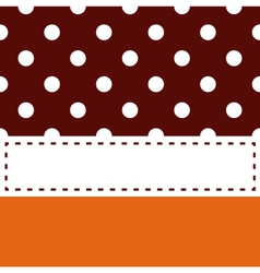 Thanksgiving retro frame with polka dots vector