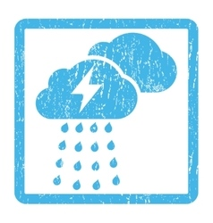 Thunderstorm Clouds Icon Rubber Stamp vector