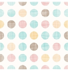 Vintage Dots Circles Seamless Pattern vector