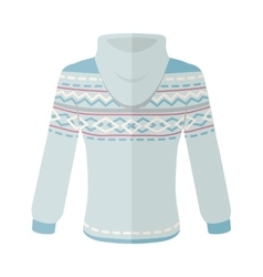 Warm Sweater with Ornaments Flat Design vector