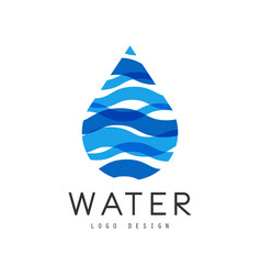 water logo design corporate identity template vector image